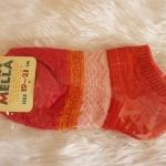 ถุงเท้าข้อสั้นสีสดใส เนื้อผ้าไหมพรมนุ่มสบาย [ขนาดเท้า35-36]