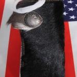 กระเป๋าสตางค์ยาว ขนวัวแท้ Style Cowboy รุ่น กระดุ่ม นิกเกอล