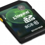 Kingston SD Card 8 GB Class 10