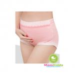 กางเกงในคนท้องลายจุดขาวพิ้นสีชมพู - 0201