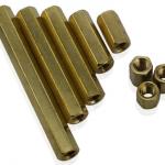 Pillars Nut M3 ชุดละ 10 ตัว (น็อตตัวเมีย ทองเหลืองแบบยาว)
