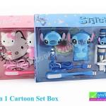 ชุดอุปกรณ์มือถือ ลายการ์ตูน 5 in 1 Cartoon Set Box
