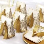 กล่องใส่ของชำร่วย - สีทอง