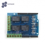 Relay Shield v0.9b 5V 4-Channel Relay Module for Arduino (Catalex)