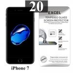ฟิล์มกระจก iPhone 7 Excel แผ่นละ 20 บาท (แพ็ค 20)