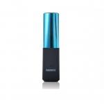 พาวเวอร์แบงค์ remax 2400 mAh Lip ลิปสติก สีฟ้า