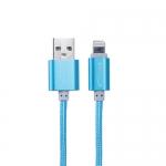 สายชาร์จ&ซิ้งค์ สำหรับ ไอโฟน PowermaxUSB สีฟ้า