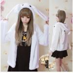 [พรีออเดอร์] ชุดเสื้อแขนยาวน่ารัก เสื้อกันหนาวหูกระต่ายสีขาว
