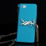เคสไอโฟน6/6S เคสซิลิโคน YSL สีฟ้า