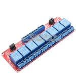 5V 8-Channel Relay High/Low Level Trigger Relay Module (Red PCB)