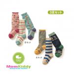 ถุงเท้ายาวเด็กลายสีสัน มีพื้นกันลื่น 002 ขนาด 12-15cm เซต 3 คู่