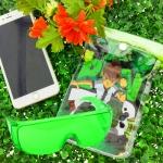 ซองกันน้ำมือถือลายการ์ตูน เบนเทน คู่ แว่นตากันน้ำ สีเขียวอ่อน