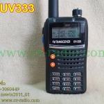 IC-UV333 วิทยุสื่อสาร 2 ย่าน ปุ่ม PTT 2 ปุ่มแยกอิสระบนล่าง