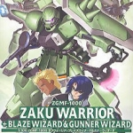 1/100 Zaku Warrior and Blaze Wizard and Gunner Wizard