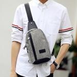 Pre-order กระเป๋าผู้ชายคาดอกแฟชั่นเกาหลี ใส่ ipad 8 นิ้ว Messenger แต่งตามอนสเตอร์ รหัส Man-7824