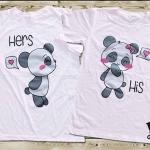 เสื้อคู่รัก น้องหมีแพนด้า cotton100%
