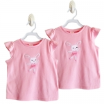เสื้อสีชมพู ลายกระต่ายน้อย ไซส์ 18-24 เดือน, ไซส์ 3 ขวบ