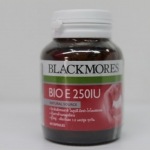 Blackmores BIO E 250 mg. 60 แคปซูล เหมาะสำหรับผู้ที่สัมผัสกับสารอนุมูลอิสระ