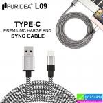 สายชาร์จ USB Type-C PURIDEA L09 ราคา 190 บาท ปกติ 570 บาท