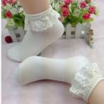 ถุงเท้าขอบระบายลูกไม้น่ารักมาก Size 34-38