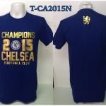 เสื้อยืด เชลซี ลาย แชมป์ พรีเมียร์ลีก 2015 สีน้ำเงิน T-CA2015N
