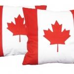 หมอนอิง ลายธงชาติอ Canada สวยๆ งามๆ ขนาด 18 x 18 นิ้ว ขายที่ละเป็นคู่