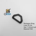 """ห้าเหลี่ยม 1"""" (แข็ง) / Pentagon Ring 1"""""""