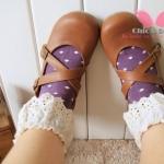 [หมด] ถุงเท้าน่ารัก ขอบลูกไม้