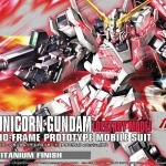 HGUC 1/144 RX-0 Unicorn Gundam (Destroy Mode) Titanium Finish