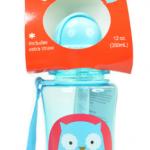 Skip Hop ขวดน้ำดื่มแบบมีหลอดดูด ลายนกฮูก Skip Hop Zoo Straw Bottle