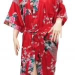 เสื้อคลุ่ม กีโมโน ลวดลายสวยงาม เป็นรูป นกยูง ขนาดฟรีไซต์ M - L - XL - XXL