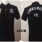 เสื้อโปโล ลิเวอร์พูล สีดำ LFCB