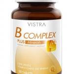 Vistra B-Complex วิตามินบี ดูแลสมอง ระบบประสาท คลายความเครียด เหมาะกับผู้ที่ขาดวิตามินบีรวม