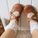 [พิเศษ 2 คู่ 150 บาท]ถุงเท้าลูกไม้ลายวินเทจ-ดอกไม้สีหวาน