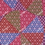 wb0121B ลายไทยปะ วงกลม สีอ่ำ