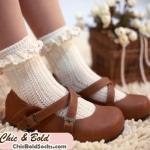 [พิเศษ 2 คู่ 120 ] ถุงเท้าลูกไม้วินเทจ