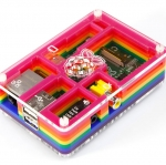 Rainbow Pibow - Enclosure for Raspberry Pi Model B (by Adafruit)