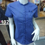 H1132 เสื้อคอจีนผู้หญิง cotton100%
