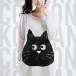 เสื้อยืดแฟชั่นตัวยาว ลายแมว แขนยาว สีขาว (สำหรับสาวตัวใหญ่ หรือสาวๆ ที่ชอบเสื้อตัวโคร่ง)