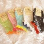 ถุงเท้าเกาหลีลายจุดเล่นขอบน่ารัก มี 5 สี [ขนาดเท้า35-38]