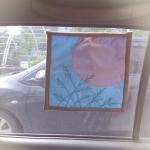 ม่านบังแดดในรถ Mini Car Window Sun Shade