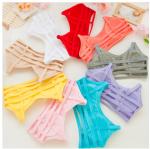 บรา3สาย 3-stripe bras บราสายไขว้ สไตล์สปอร์ตบราขนาดฟรีไซต์ 32/34/36 Candy Color