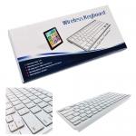 คีย์บอร์ดไร้สาย Wireless Keyboard สีขาว