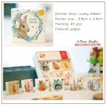 [S513] ชุดสติ๊กเกอร์ : Lovely Rabbit Sticker Set