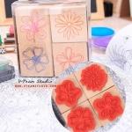 [B4] ตัวปั้ม-Sweet Flowers Stamp set
