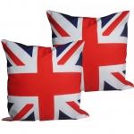 หมอนอิง ลายธงชาติอังกฤษ สวยๆ งามๆ ขนาด 18 x 18 นิ้ว ขายที่ละเป็นคู่