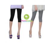 กางเกงเลคกิ้งคนท้องขา 3 ส่วน ผ้านิ่มใส่สบาย ปรับสายที่เอวได้ - LG1703