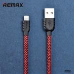 สายชาร์จ remax Nylon สำหรับ iOS สีแดง