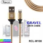 สายชาร์จ iPhone 5,6,7 Recci GRAVEL RCL-W100 ราคา 120 บาท ปกติ 360 บาท
