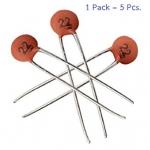 capacitor ตัวเก็บประจุชนิดเซรามิก 22pF 50V (pack 5 ตัว)